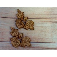 Laser Cut Joined Roses 80mm